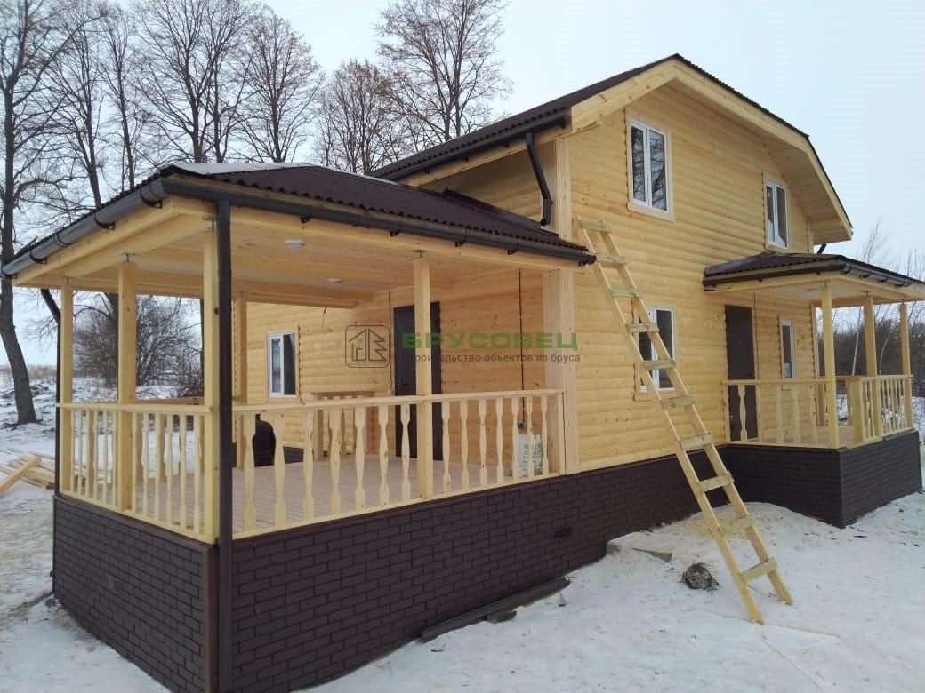 Дом по проекту «Алитус» 8×12 м (под ключ)