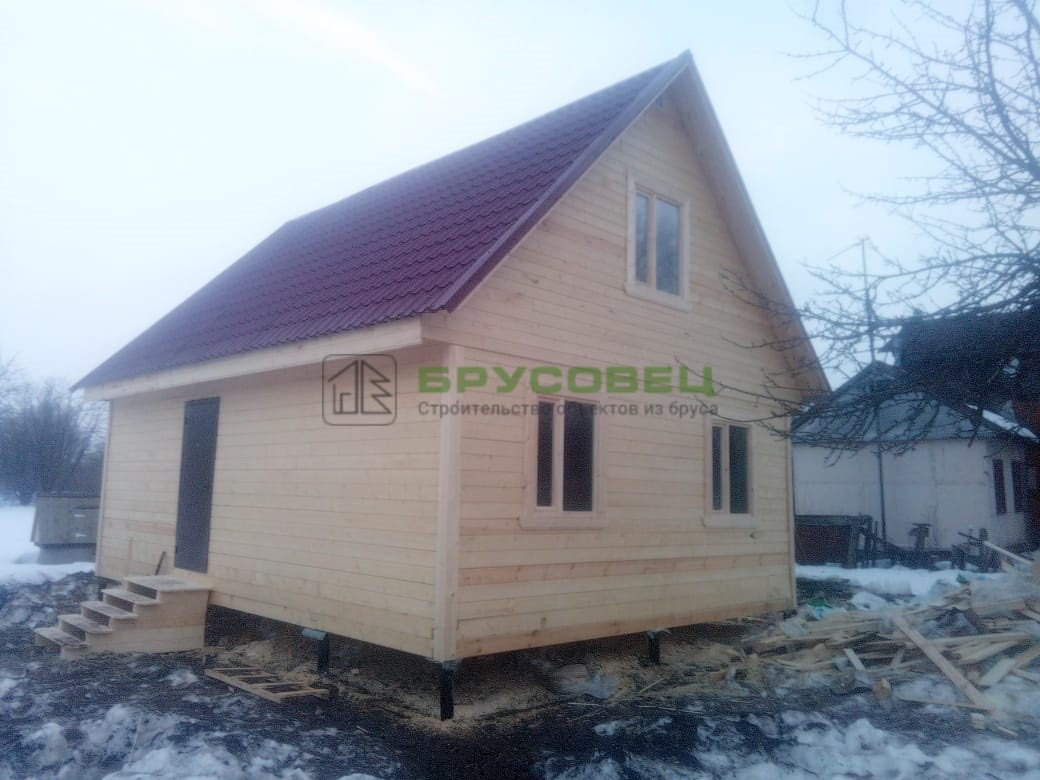 Дом по проекту «Брюссель» 6х8м (под ключ)