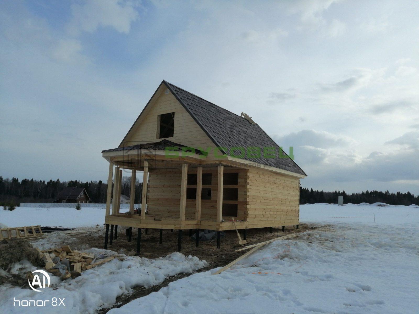 Дом по «индивидуальному проекту» 6х10м (под усадку)