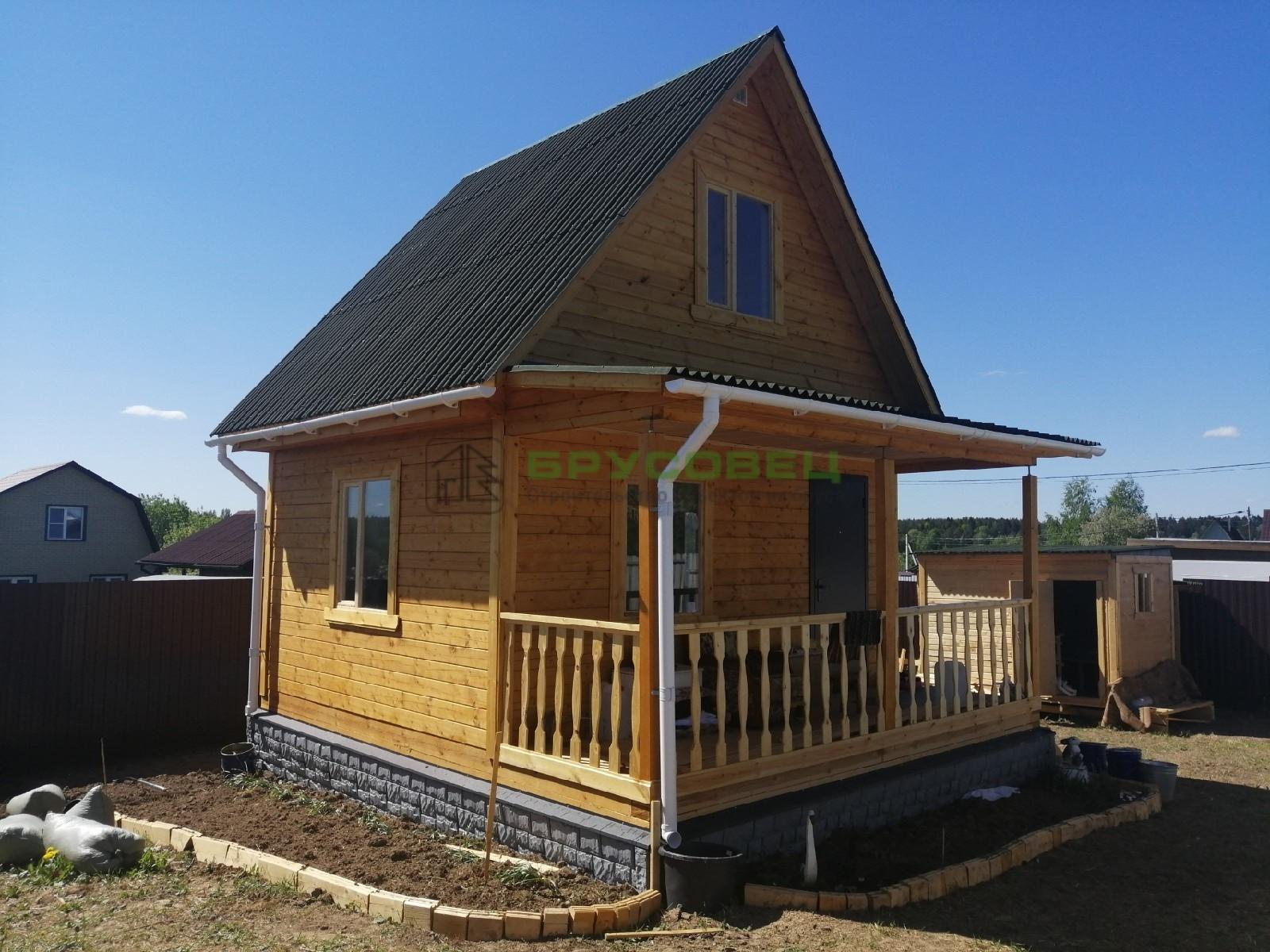 Дом по проекту «Милан» 5х5.5м (под ключ)