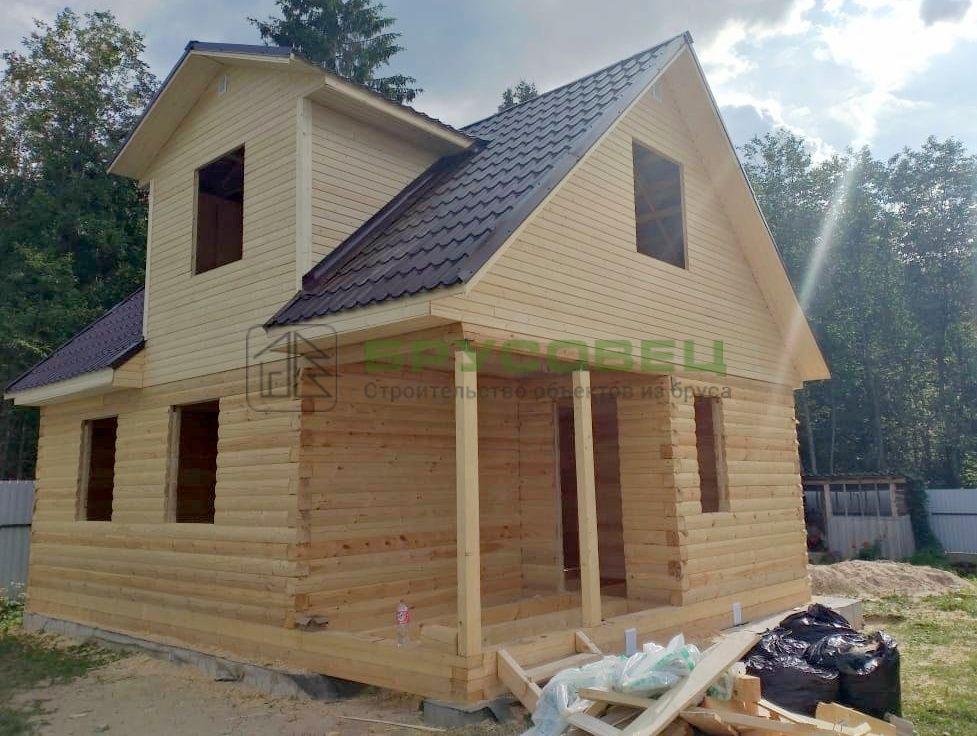 Дом по проекту «Барши» 6×8 м (под усадку)