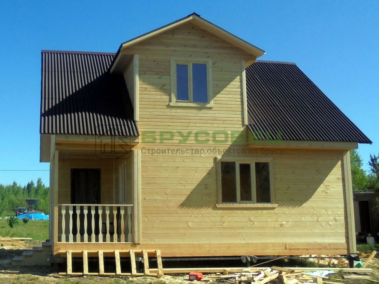 Дом по проекту «Барши» 6×8м (под ключ)