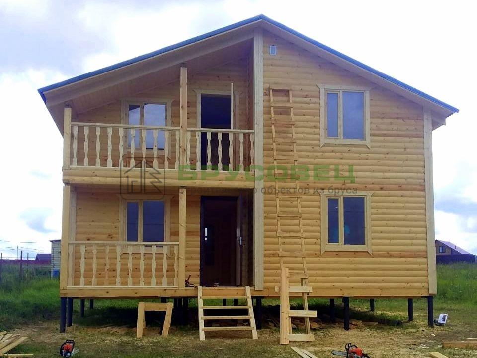 Дом по проекту «Тирана» 6×8 м (под ключ)