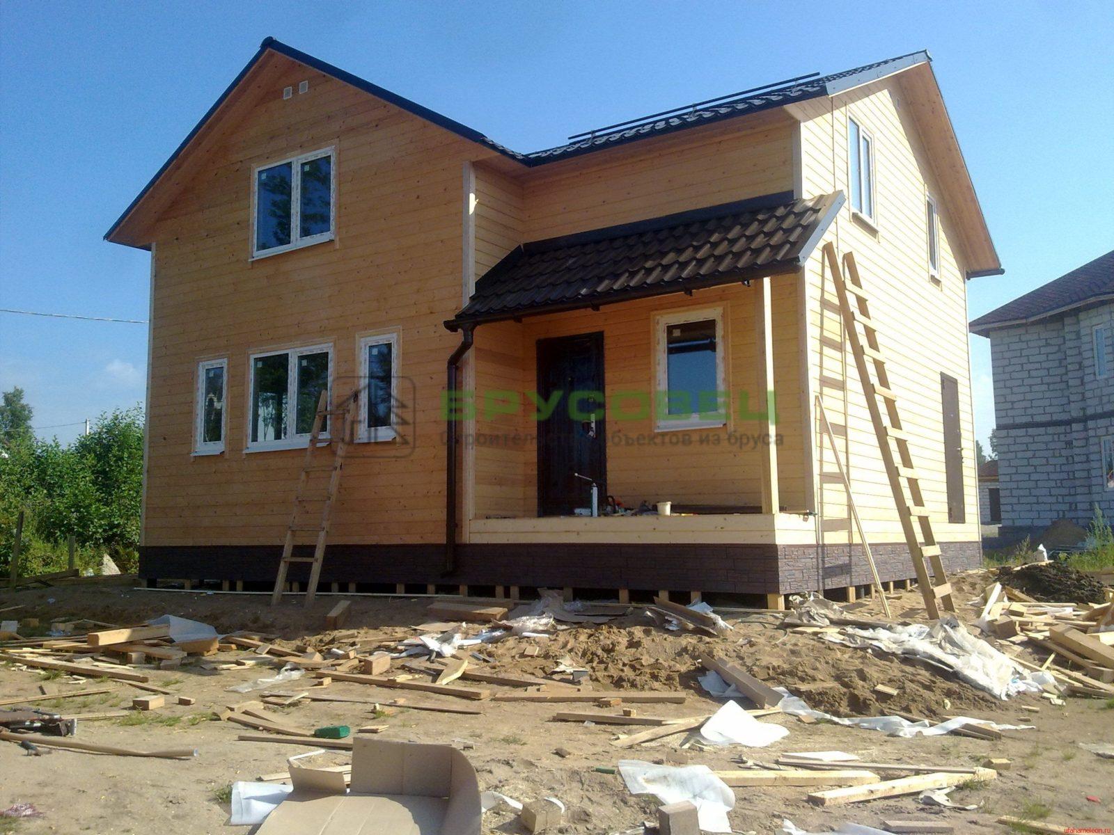 Дом «По индивидуальному проекту» 7.5х8м (под ключ)