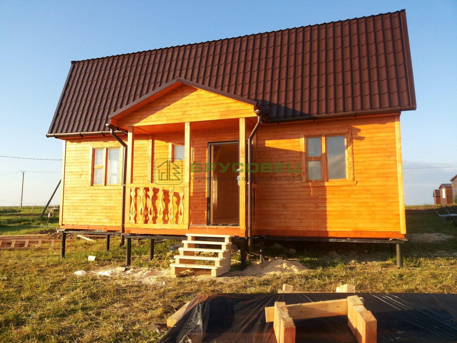Дом «По индивидуальному проекту» 7.5х9м (под ключ)