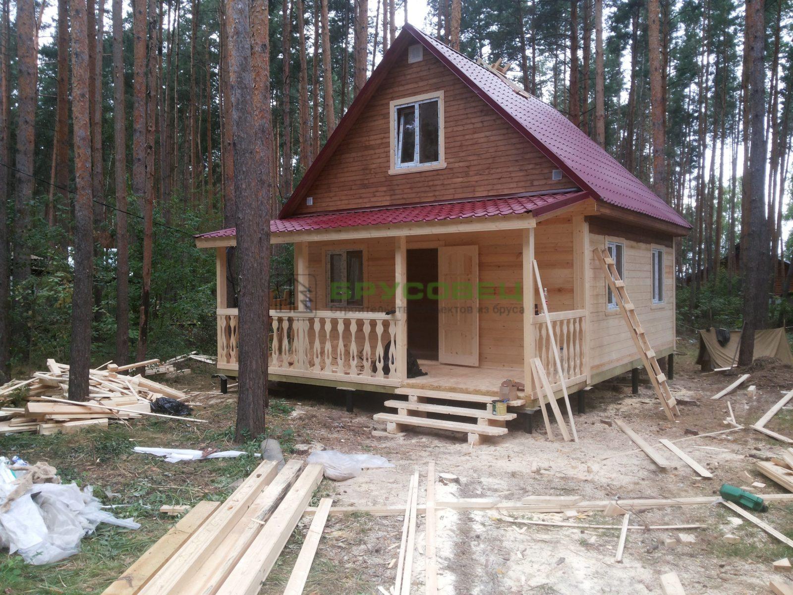 Дом «По индивидуальному проекту» 6х8м (под ключ)