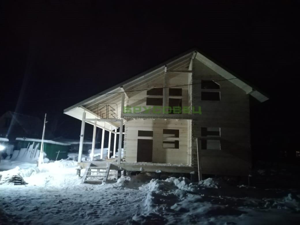 Дом «по индивидуальному проекту» 9х9м (под усадку)