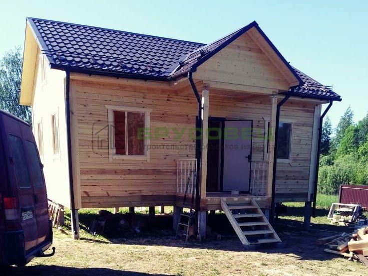 Дом по «индивидуальному проекту» 6×8м (под ключ)