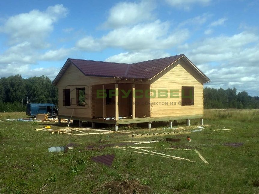 Дом по проекту «Лонга» 9×9 м (под усадку)
