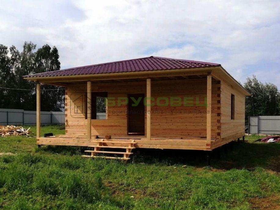 Дом по проекту «Авлида» 8×12 м (под усадку)