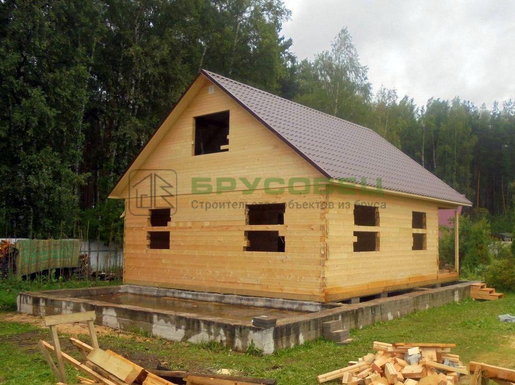 Дом по проекту «Левада» 8×9 м (под усадку)