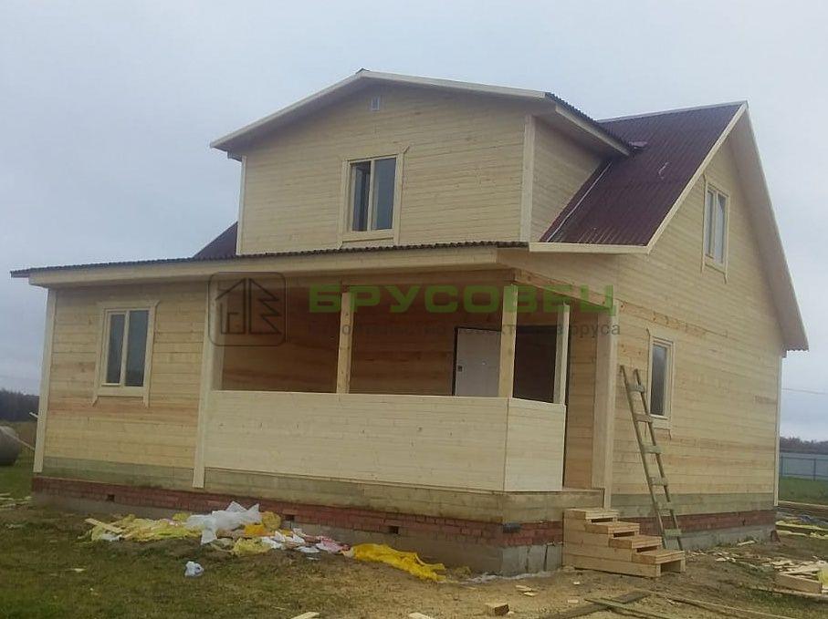 Дом по проекту «Коло» 8×10 м (под ключ)