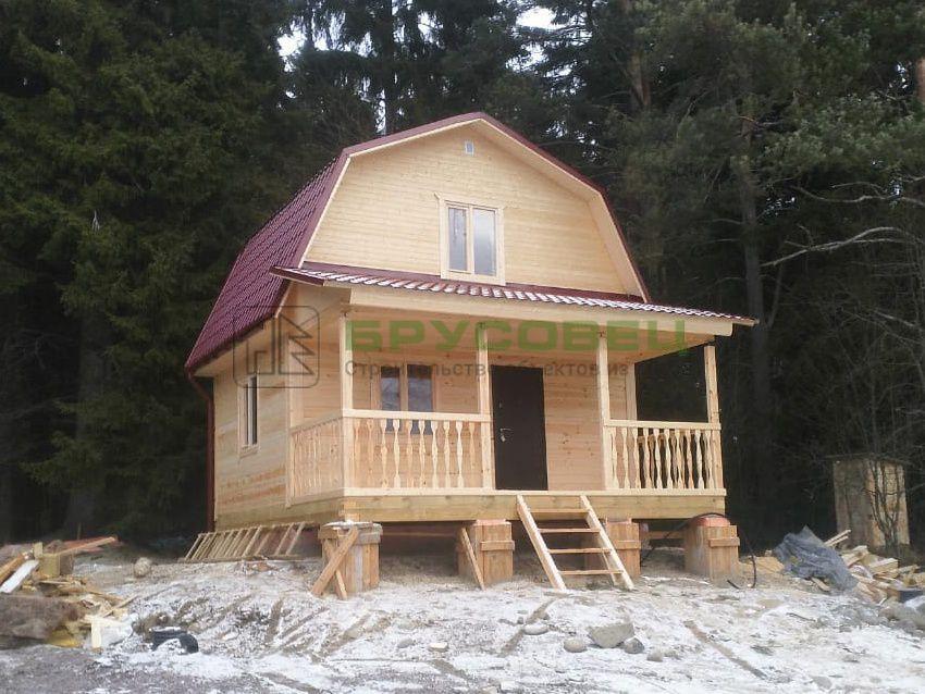 Дом по проекту «Леон» 6х6 м (под ключ)