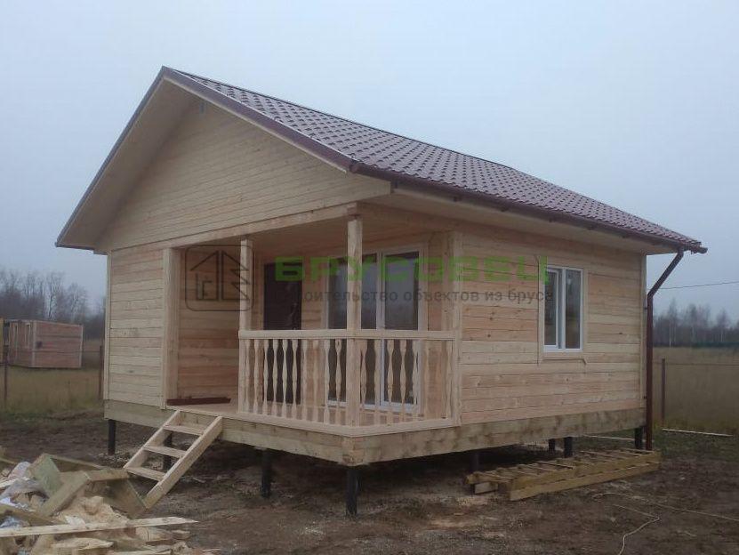 Дом по индивидуальному проекту 6х6 м (под ключ)