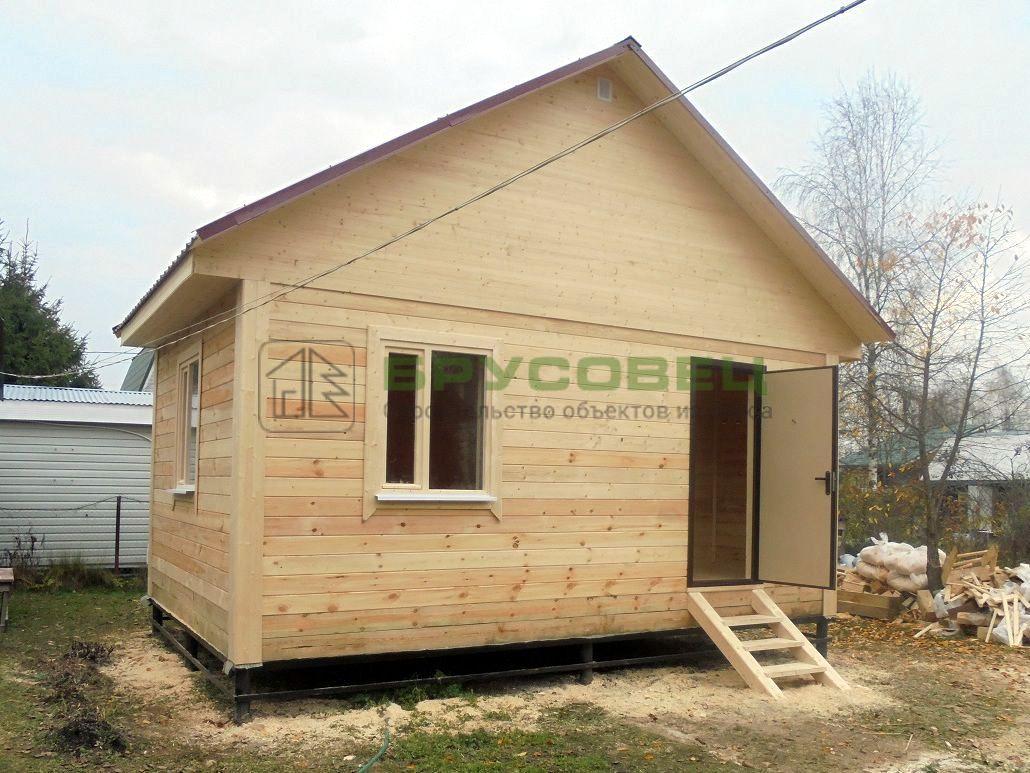 Дом по проекту «Регада» 4х6 м (под ключ)