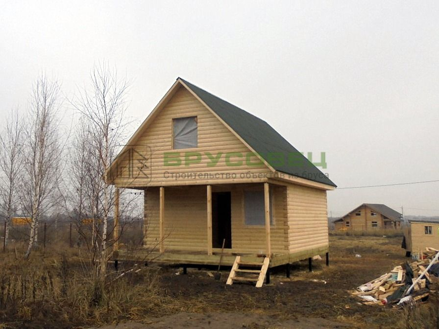 Дом по проекту «Арана» 6×8м (под усадку)