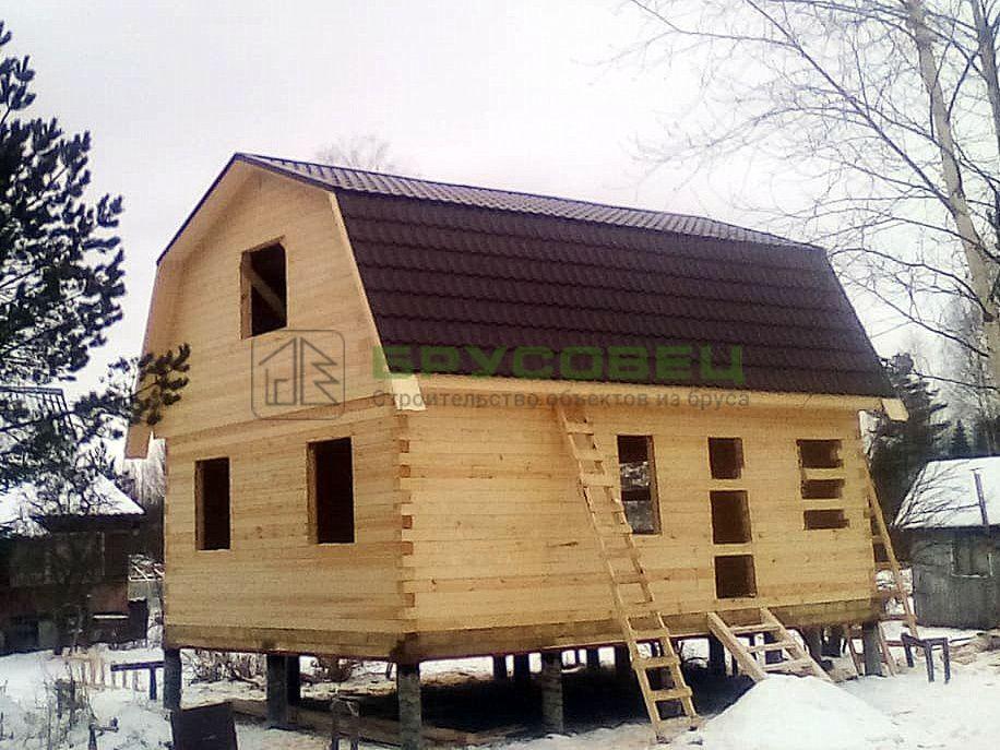 Дом по индивидуальному проекту 6×8 м (под усадку)