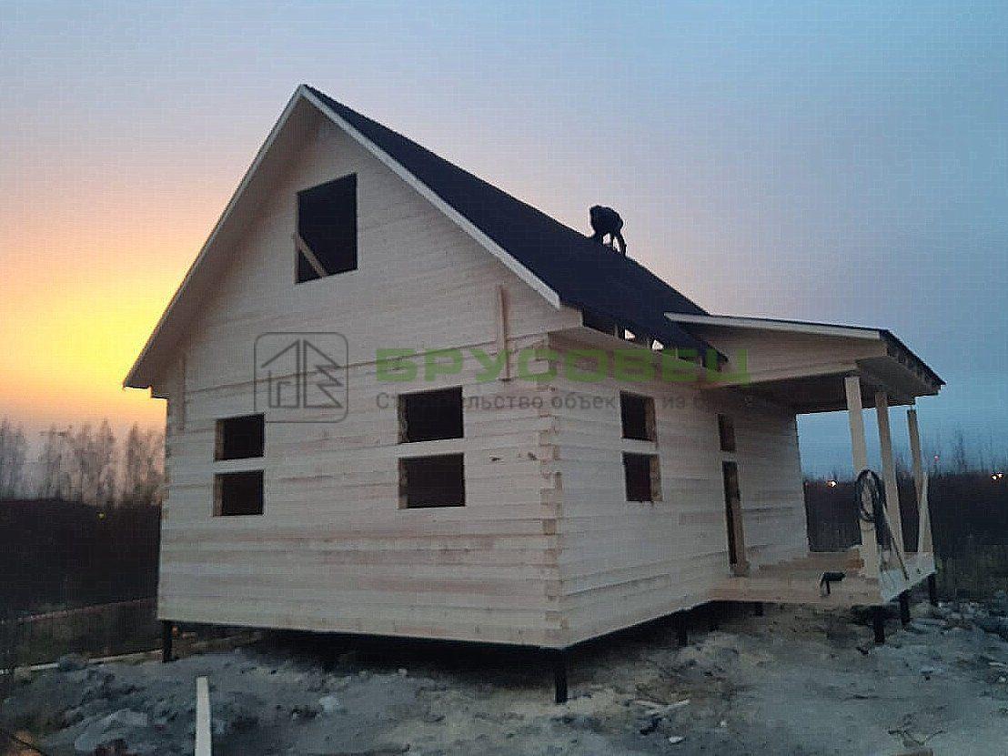 Дом по проекту «Орлеан» 8×9 м (под усадку)
