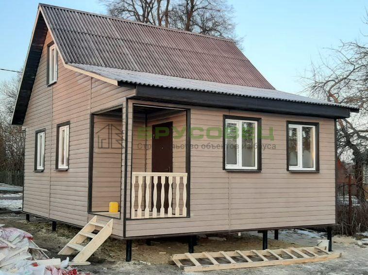 Дом по индивидуальному проекту 6×8 м (в каркасном исполнении)