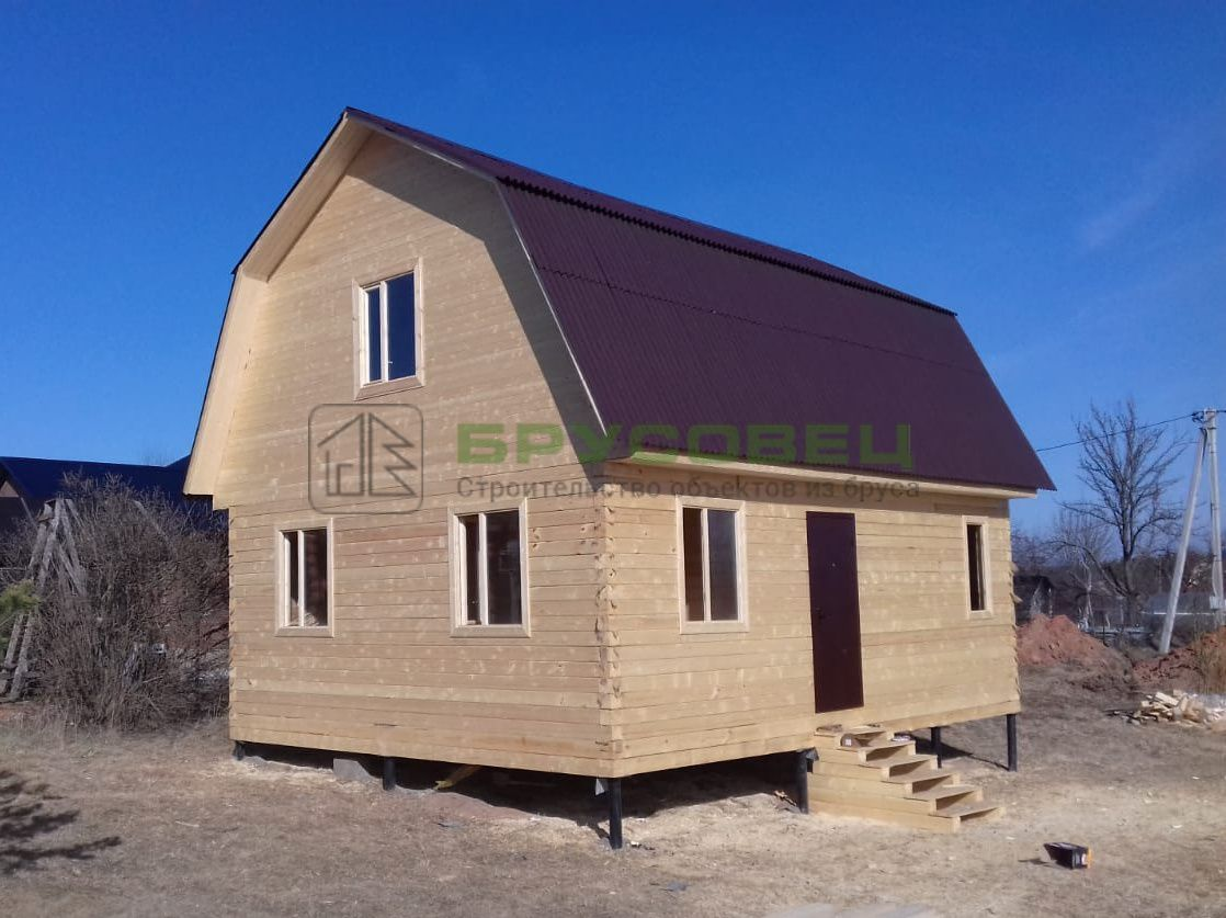 Дом по индивидуальному проекту 6×8 м (под ключ)