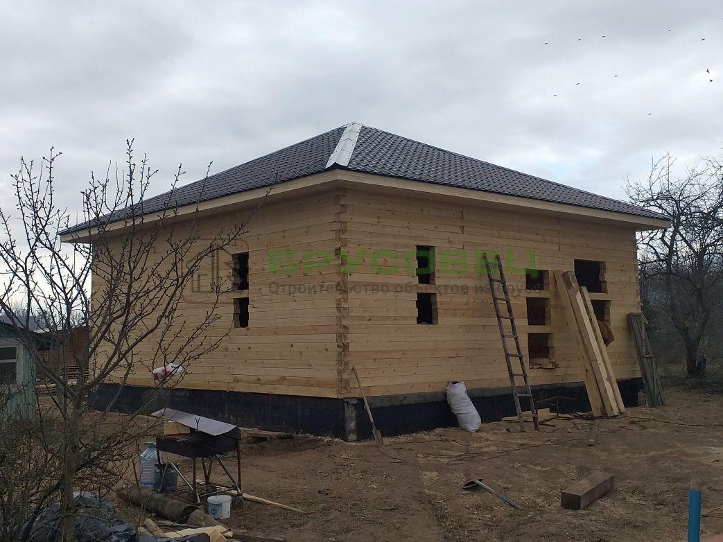 Дом по индивидуальному проекту 9×9 м (под усадку)