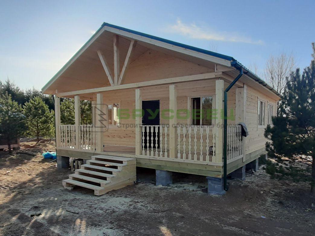 Дом по индивидуальному проекту 8х9 м (под ключ)
