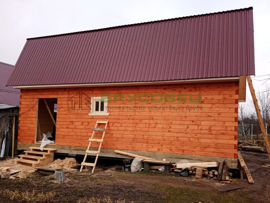 Дом по индивидуальному проекту 6×9м (под усадку)