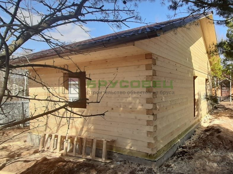 Дом по индивидуальному проекту 6×9 м (под усадку)