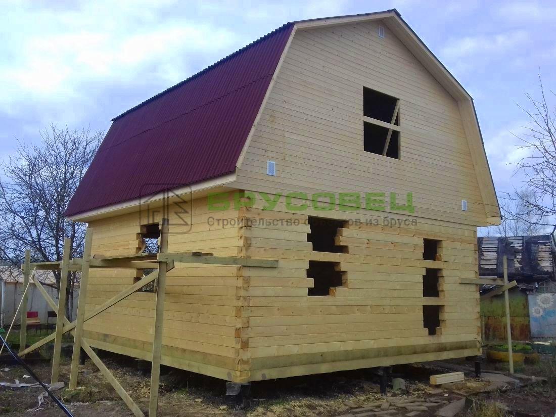 Дом по проекту «Пече» 6×6 м (под усадку)