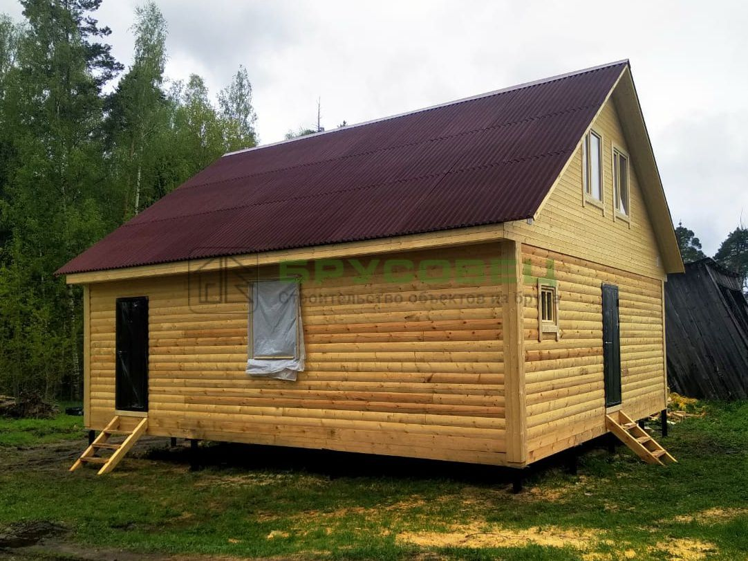 Дом по проекту «Левада» 8×9 м (под ключ)