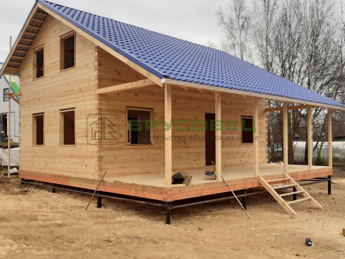 Дом по проекту «Аликанте» 9×9 м (под усадку)