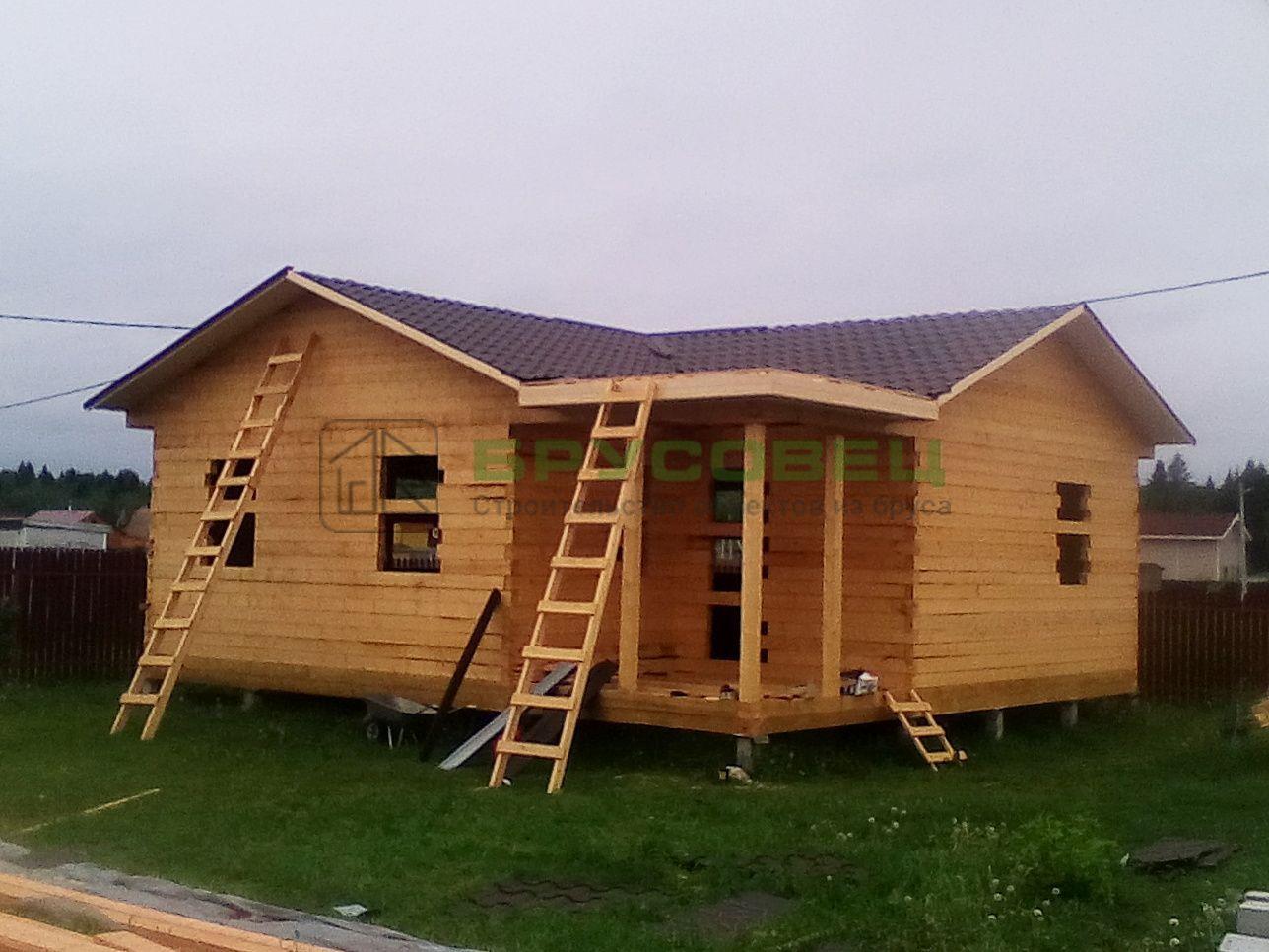 Дом по проекту «Лонга» 9×9 м (под усадку) с изменениями