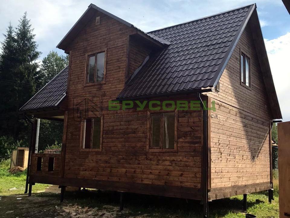 Дом по проекту «Барши» 6×8 м (под ключ)