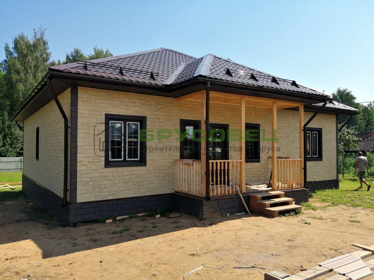 Дом по индивидуальному проекту 11.5×12.5 м (в каркасном исполнении)