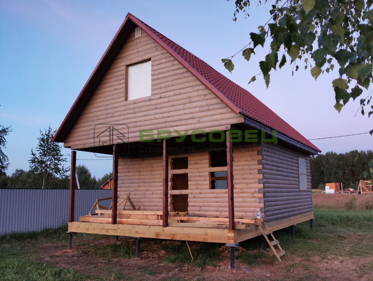 Дом по проекту «Арана» 6×8 м (под усадку)