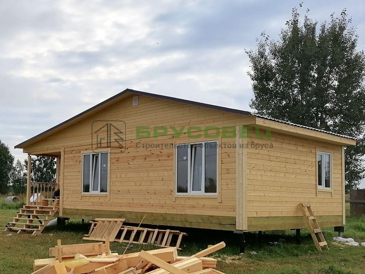 Дом по проекту «Кадис» 6х10.5 м (под ключ)
