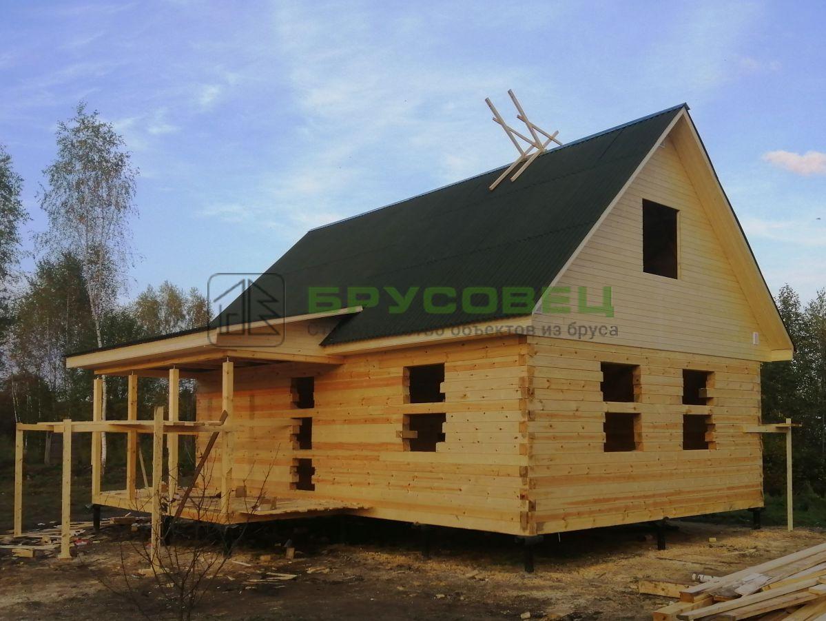 Дом по проекту «Орлеан» 8×9м (под усадку)