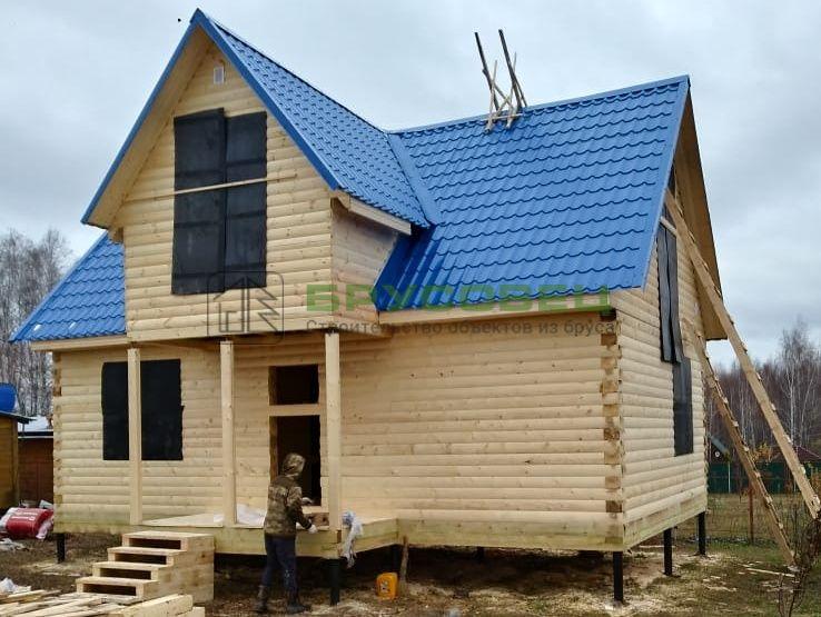 Дом по проекту «Лиссабон» 7.5х9м (под усадку)
