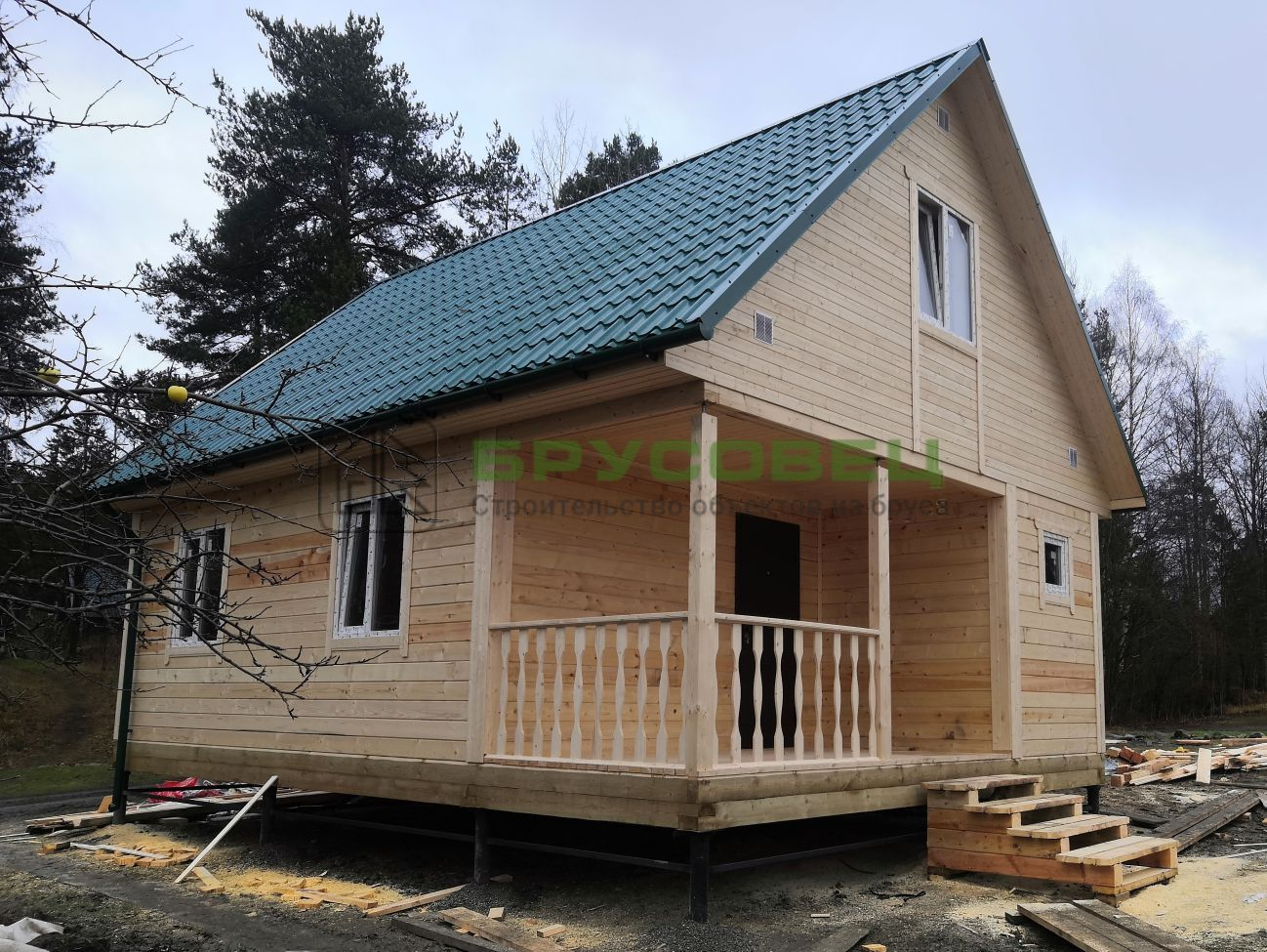 Дом по проекту «Мадрид» 6×8 м (под ключ)