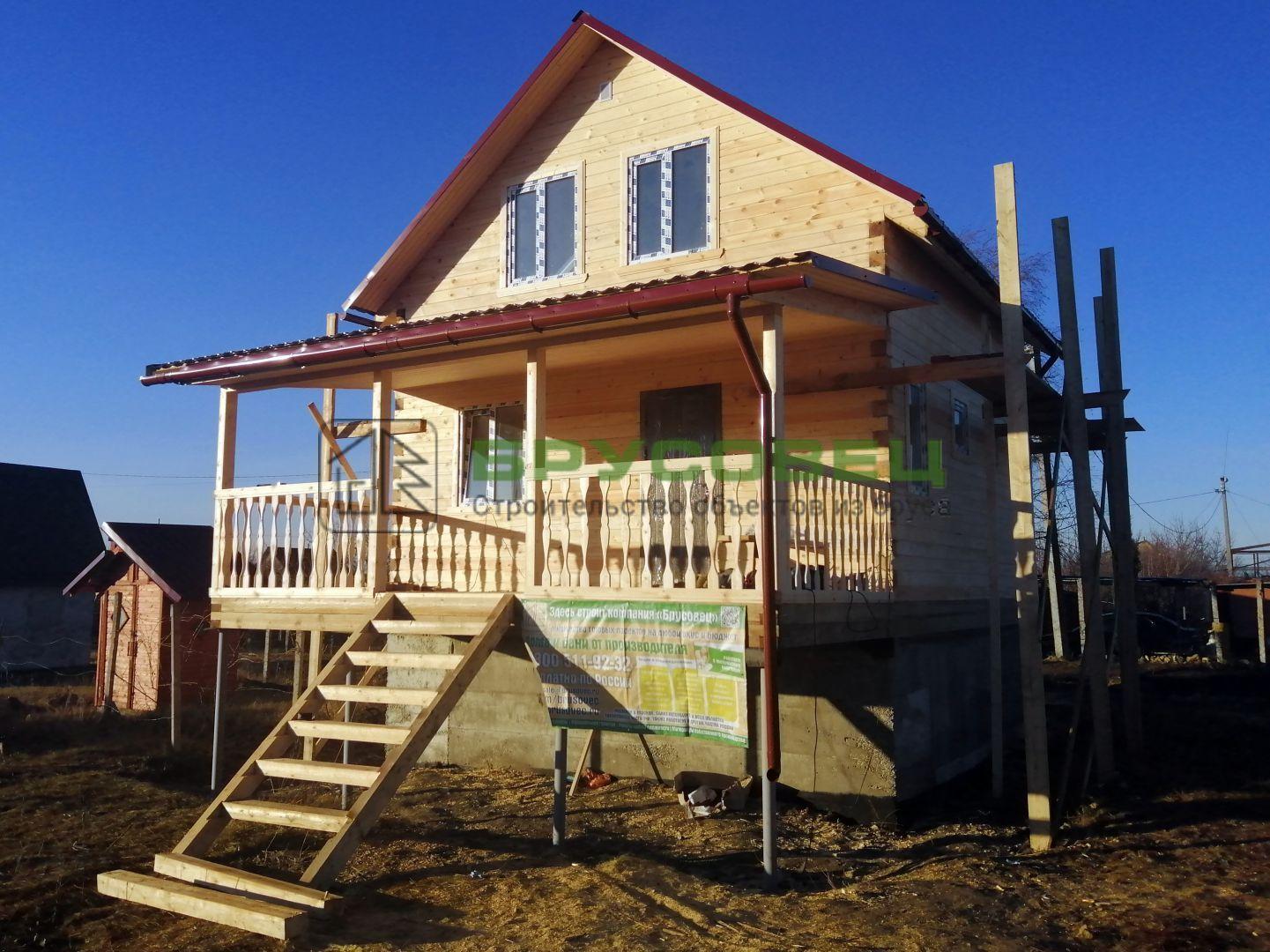 Дом по индивидуальному проекту 6×8.6 м (под ключ)