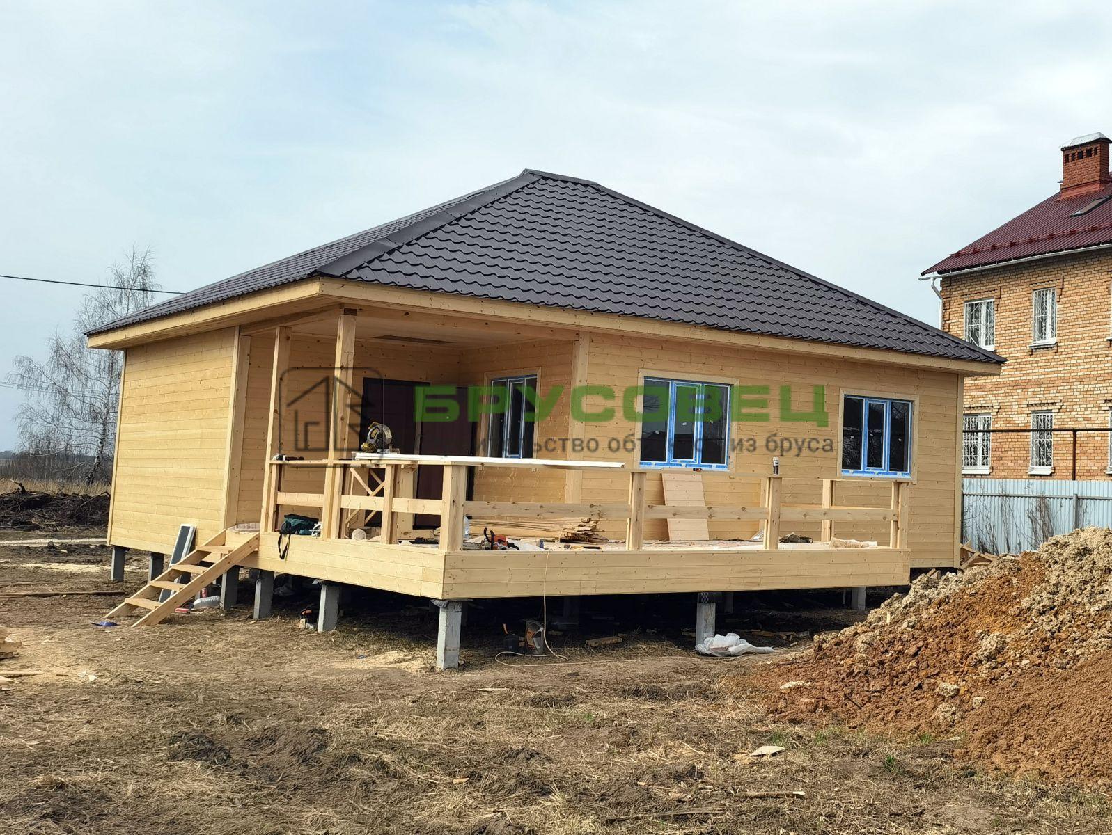Дом по индивидуальному проекту 9×10 м (в каркасном исполнении)