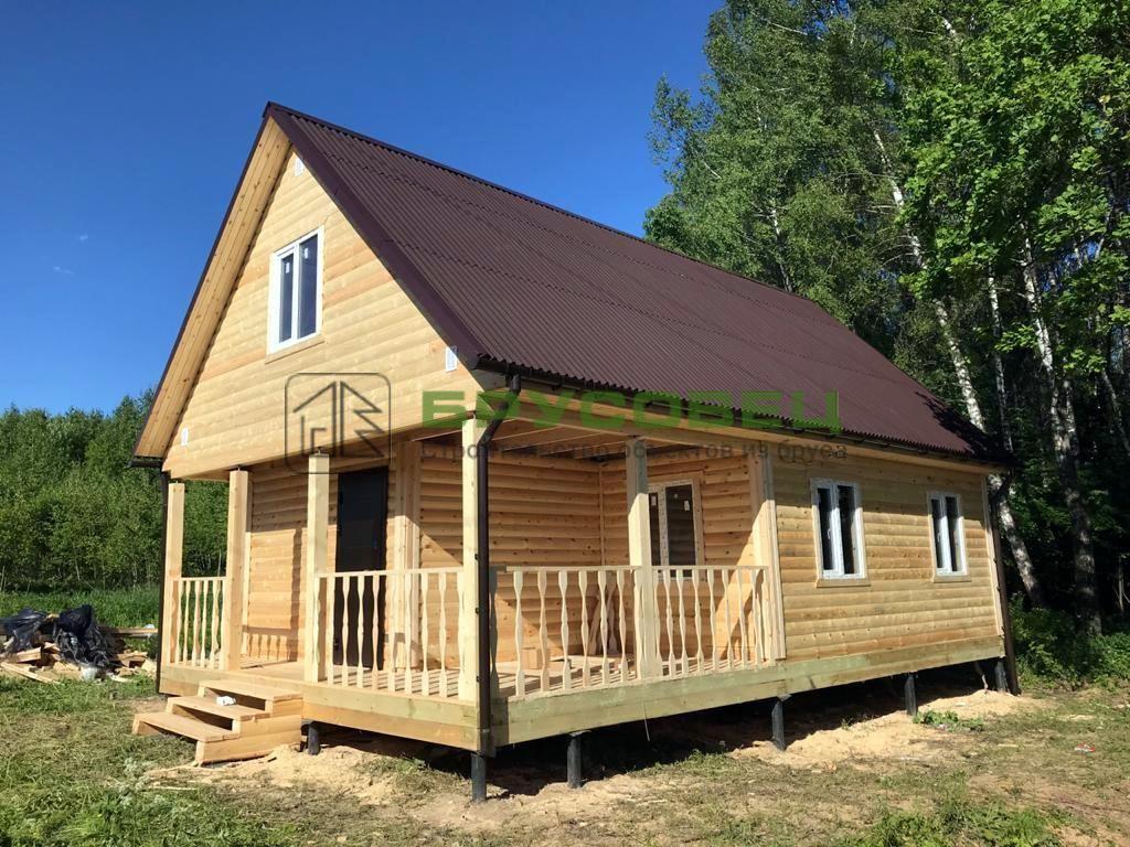 Дом по проекту «Розо» 6×10 м (под усадку)